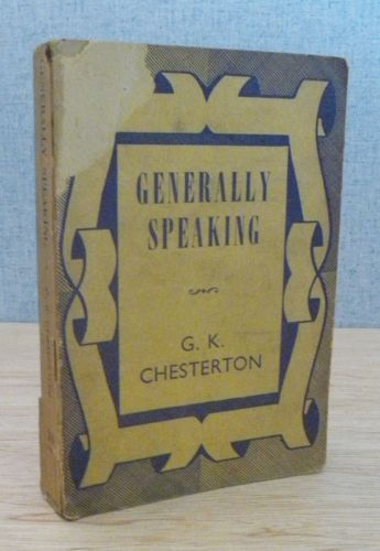 generally-speaking