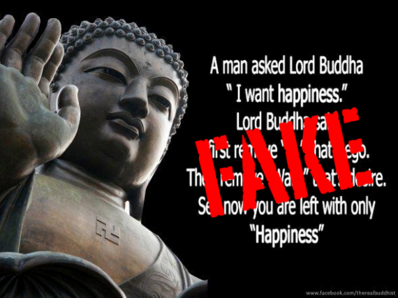 Buddha Quotes On Happiness Inspiration A Man Said To The Buddha 'i Want Happiness.'  Fake Buddha Quotes