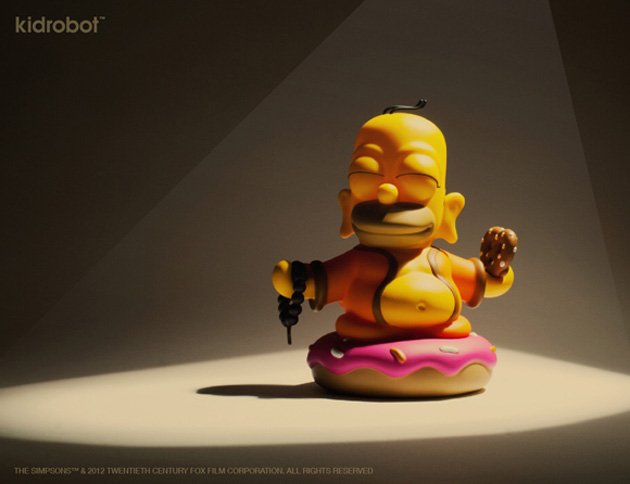 Kidrobot-The-Simpsons-Homer-Buddha