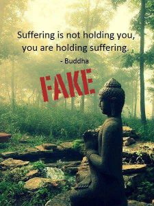 suffering is not holding you