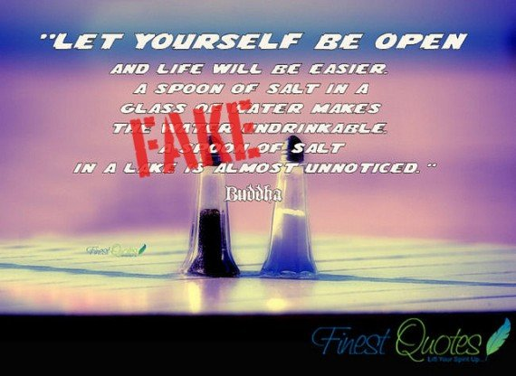 let yourself be open