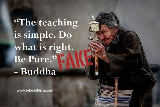 ... Appalling* Rendition Of The Dhammapada, Although Itu0027s Found There As  U201cYet The Teaching Is Simple. Do What Is Right. Be Pure.u201d Sometimes The Quote  Ends ...